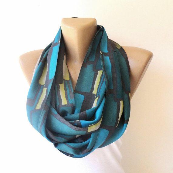 trendy infinity scarf  neck accessory  fashion women by seno, $19.00