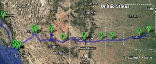 Epic West Route 66 Road Trip! All the best stops off and on Route 66 from Oklahoma to California!