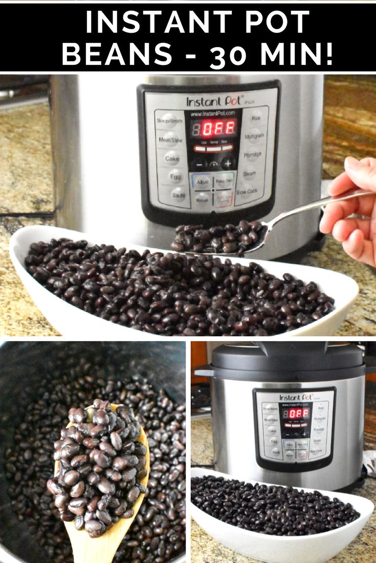 Never buy canned again with these amazing Instant Pot Beans! From dry to ready in about 30 min! #InstantPot #InstantPotRecipe #Beans