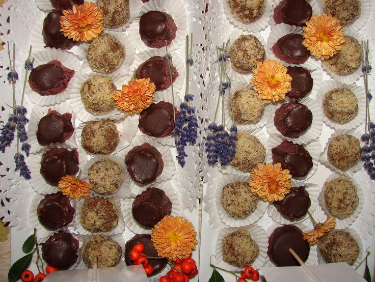 Raw Cherry Cakes&Raw Candies With Nuts ~Almha Rhais
