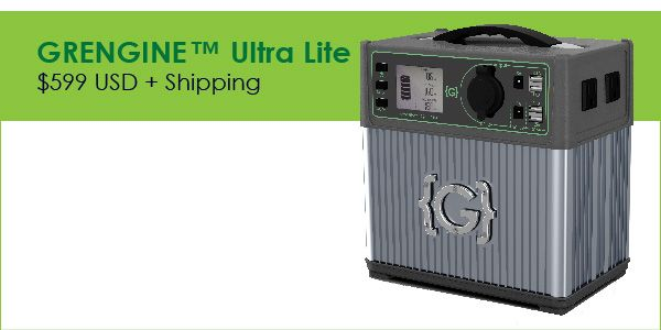 Meet the GRENGINE™, the evolution of portable power.