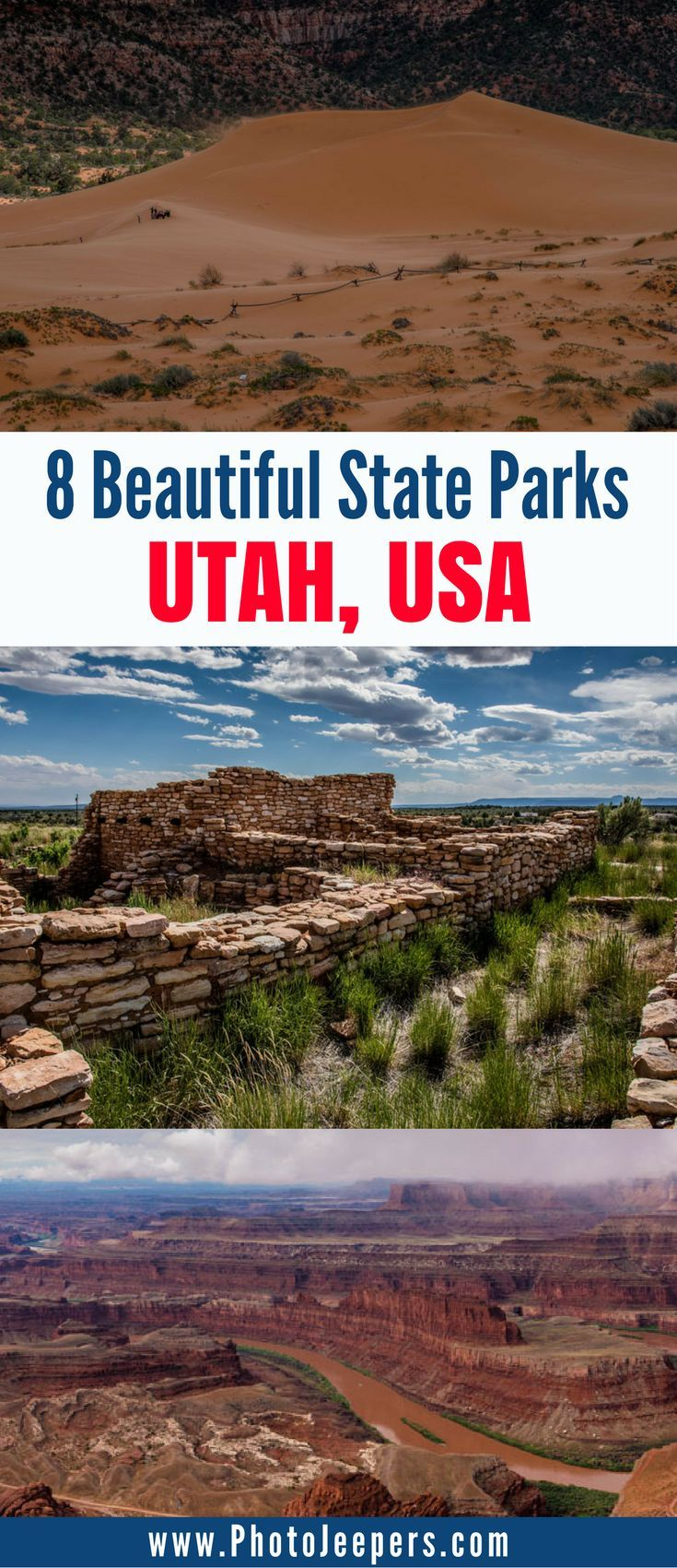Utah has many beautiful state parks to explore. If you're looking for outdoor things to do in Utah, you'll want to check these state parks out. They're perfect for hiking in Utah, taking pictures, and seeing the diverse landscapes Utah has to offer. Make sure you save these Utah state parks to your Utah travel board so you can find them later. #utah #utahstateparks #travel