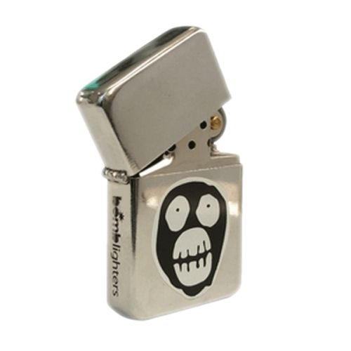 Bomblighter - Mighty Boosh.  Solid windproof metal lighter; Full lifetime guarantee; Comes boxed and in a tin case; Excellent collectors item; Makes an ideal gift! 6cm Tall x 4cm Wide.  For more information please click the link or visit dotcombong.com.