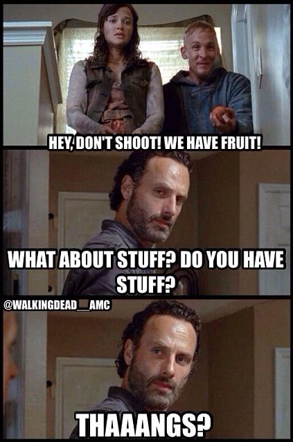 The Walking Dead: Stuff & Thangs -- His eyes in the 2nd photo XD
