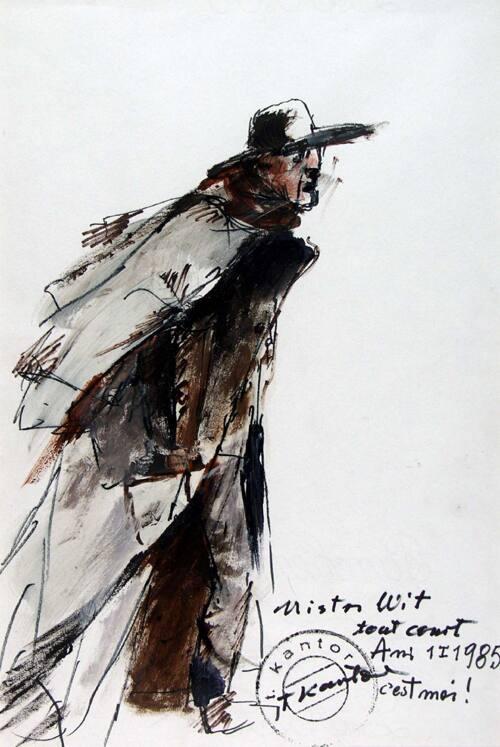 Tadeusz Kantor - Master Veit Tout Court C'est Moi (Self-Portrait) - malarze.com -- Malarze Polish Art Gallery - Polish Art of Painting and Painters - pl: Malarze Polscy i Sztuka Polska