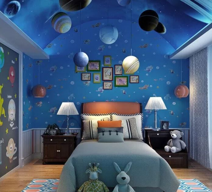 Space Themed Hotel Room Space Themed Bedroom Space Themed Room Outer Space Bedroom