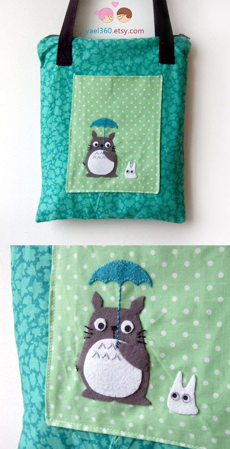 Totoro with umbrella bag, from etsy: https://www.etsy.com/listing/259918091/totoro-bag-with-umbrella-pocket-inspired