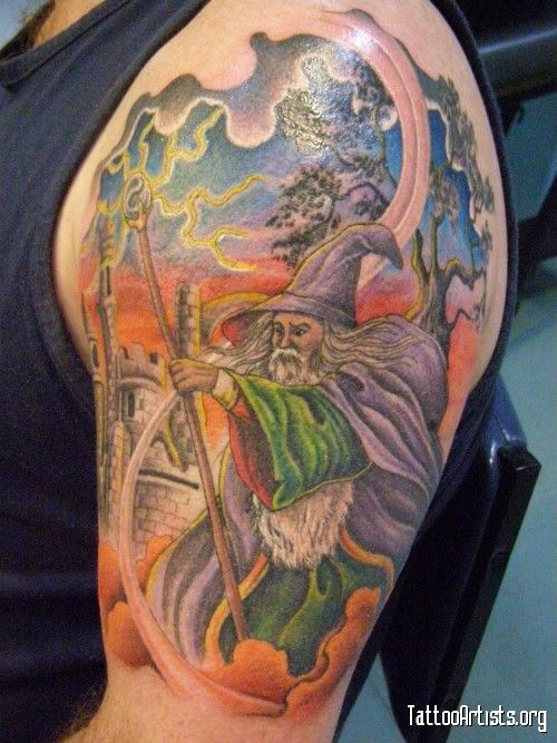 1000 ideas about wizard tattoo on pinterest fantasy for Wizard tattoo designs