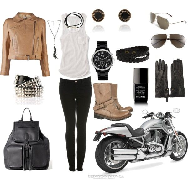 the perfect biker-chick outfit!