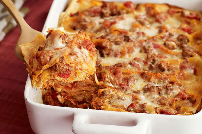 Try our delicious Four-Cheese Lasagna stuffed with Neufchatel, mozzarella,  Parmesan and cottage cheese. End your day with this…