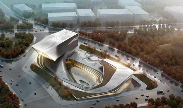 Dalian Library – Competition Proposal by 10 DESIGN , via Behance
