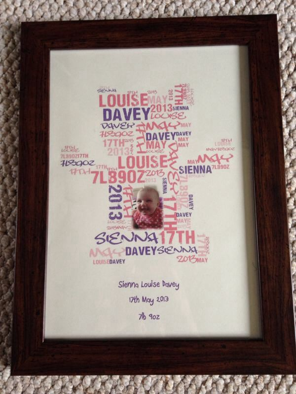 Teddy Bear Word Cloud Frame with Photo. Price dependent on frame, size and whether you would like a photo in the design. Product pictured in photo is £17.50 plus £3.75 p@p. Choose any words that you like, available in a range of colours and a choice of frame. Please message us to discuss the details of your frame.
