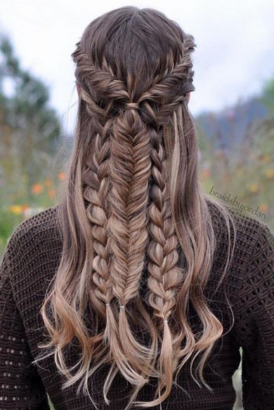 Gorgeous Mixed Braid Hairstyle created with Dirty Blonde Luxy Hair Extensions by @braidsbyjordan. Love how she paired a Fishtail Braid with a Three strand braid for this perfect hairstyle! Photo by: https://instagram.com/p/8j0rjmP33Q/?taken-by=braidsbyjordan #LuxyHairExtensions