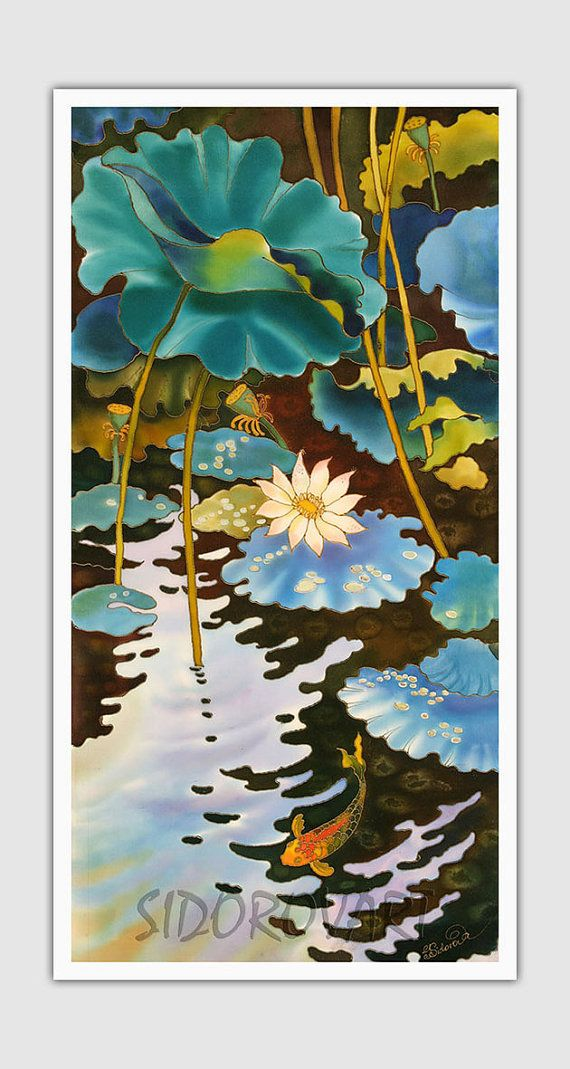 Canvas Print GICLEE Print Of Original Acrylic by SilkByLena