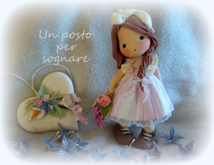 doll porcelana fria,bambolina pasta mais,porcellana fredda,polime clay.s.valentino.