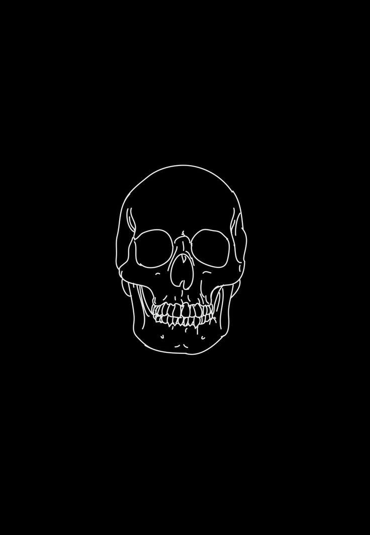 just black logo skull wallpaper black wallpaper black