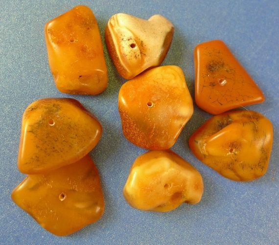 j66 Multi-Colour Honey Yellow Orange Black BALTIC by VintageValuer