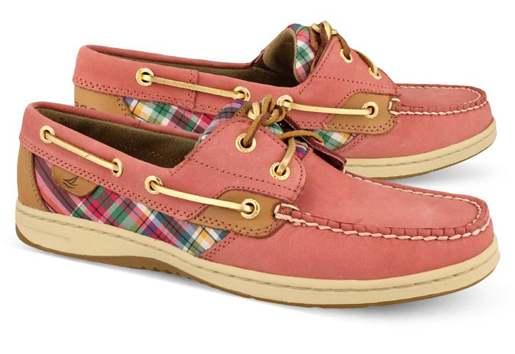 Women's Sperry, Bluefish 2-Eye - Genuine Handsewn Tru-Moc Construction And Padded Tongue For Durable Comfort In Red Plaid