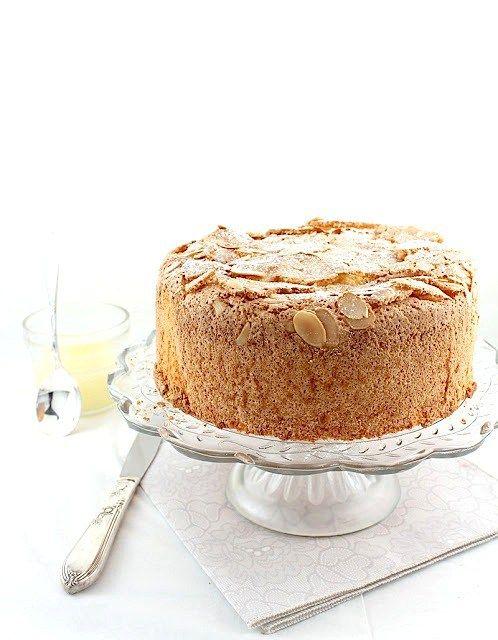 Passover (and gluten-free) Lemon Almond Sponge Cake with warm lemon sauce