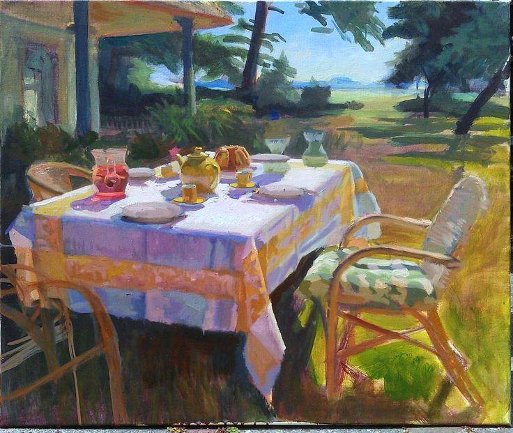 Joost Doornik > Gele tafel in de ochtendzon