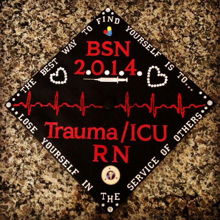 My decorated nursing graduation cap #RN #BSN