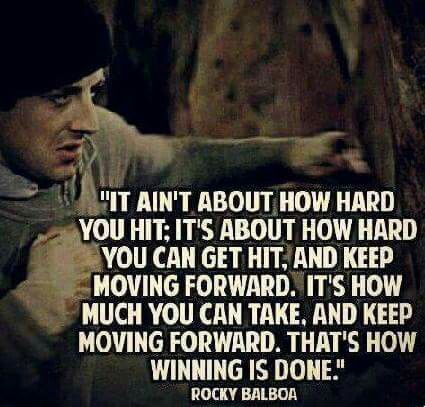 Thats why i win.get at me and give me your best shot. Ill keep moving forward!