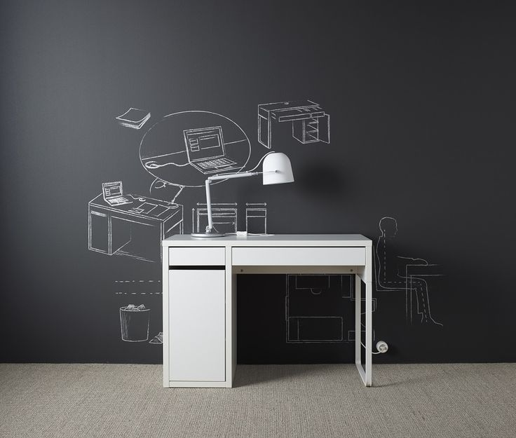 """Με απλό design, το γραφείο MICKE δε θα βγει ποτέ """"εκτός μόδας""""."""