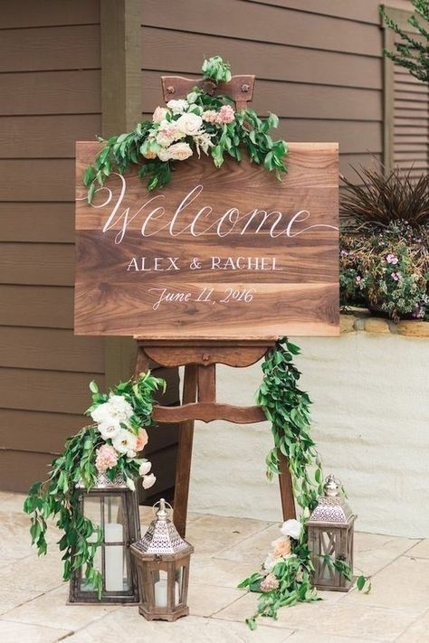 Amazing Rustic Wedding Sign Ideas – Deko
