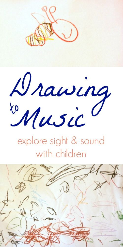 Drawing to music with children is one way to explore the ways in which we can perceive and interpret sounds visually.