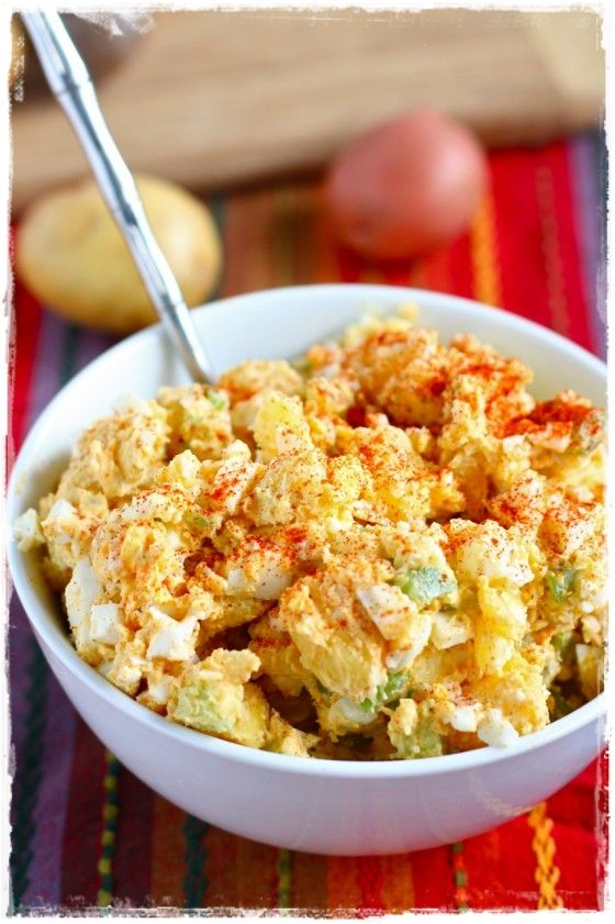 Old Fashioned Potato Salad - fyi....the actually recipe is found when you click on the link in the short blurb under the yummy looking picture....it takes you to another website altogether which could be good, too!!
