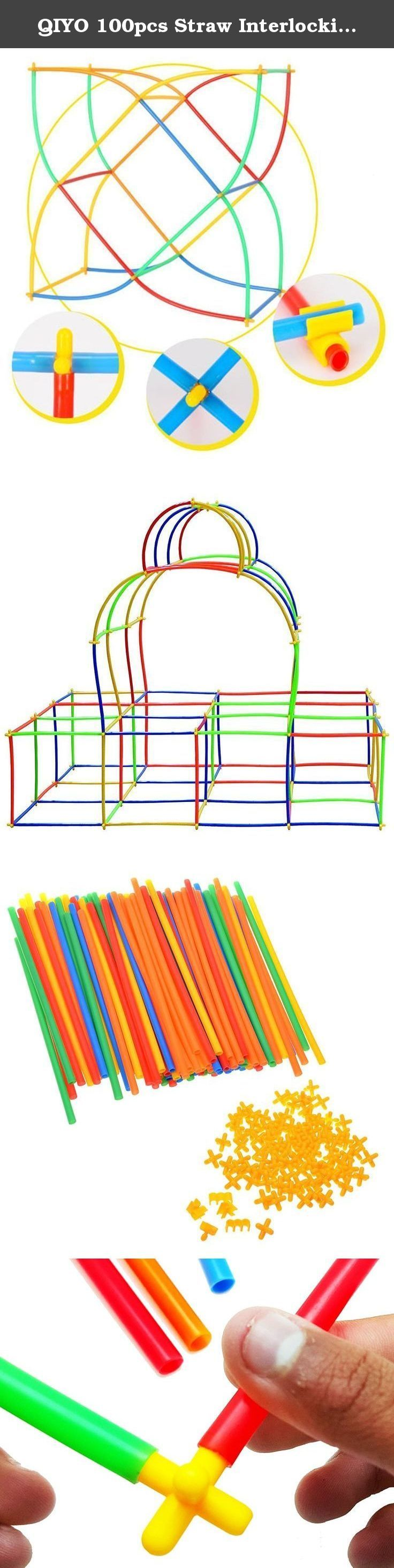 QIYO 100pcs Straw Interlocking Constructor Toys - Plastic Building Engineering Toys - Fine Motor Skill Development Educational Block Set - Best Safe Birthday Chirstmas Gift for Kids Boys Girls. Engineers Start Here! Give Your Child The Skills Today! Great for sensory development, occupational therapy and autistic individuals. Endless creative combinations teaches spatial thinking. WARNINGS 1. Adult supervision is required for children. 2. Please do not throw the toys to each other. 3…