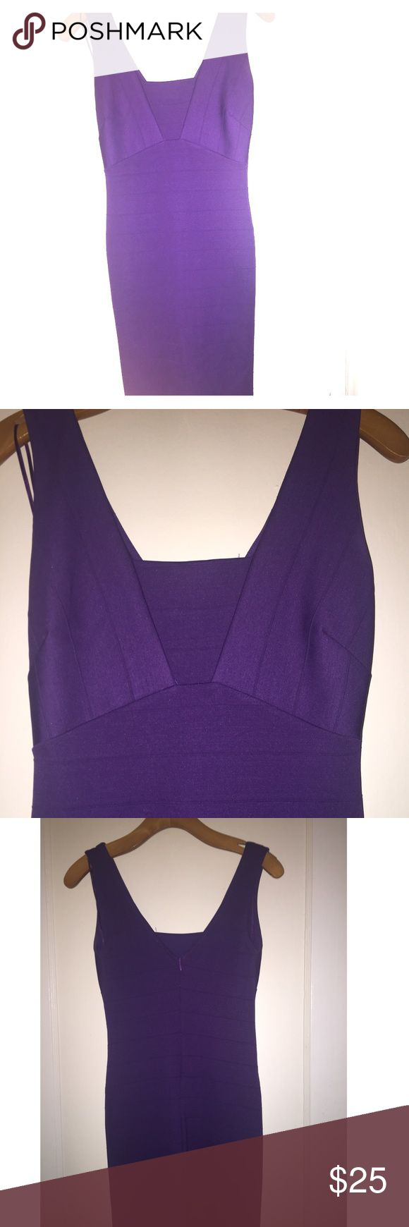 Purple Bandage Bodycon Dress Bodycon Bandage Dress from Jane London. UK size 10. Fits US 6-8 Dresses Mini