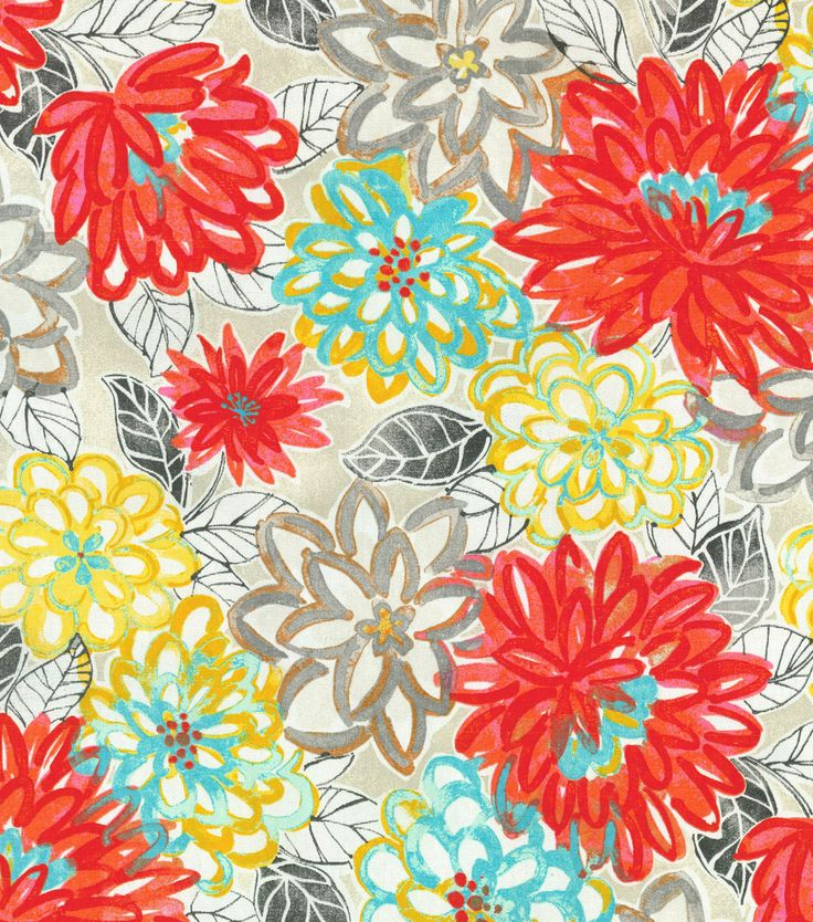 Charmant Home Decor Print Fabric  Laurette Matisse Dance Scarlet Lake