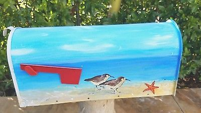 Hand~Painted Tropical Mailbox. Medium size. Steel. new