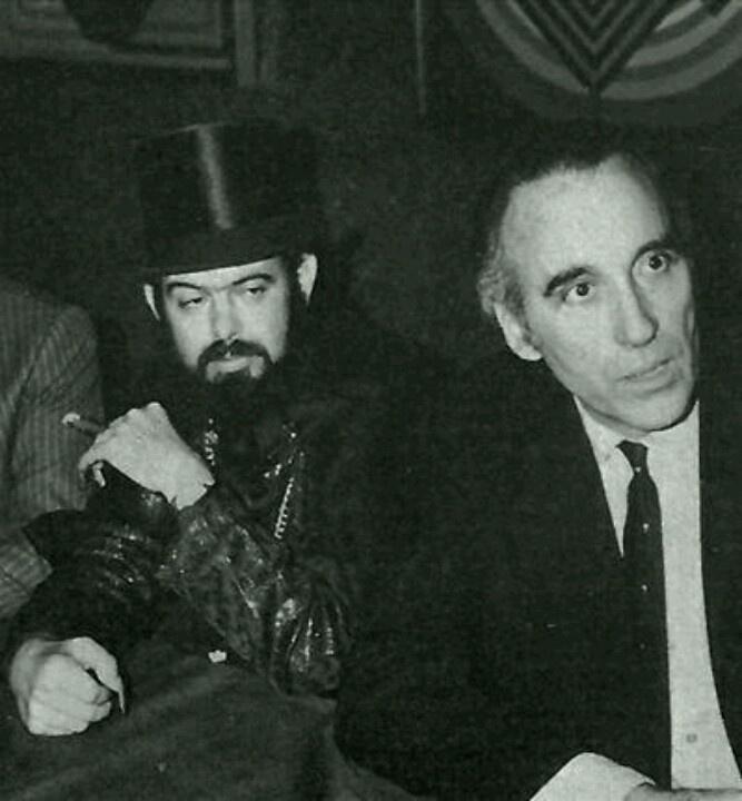 Zé do Caixão (aka Coffin Joe) and Christopher Lee