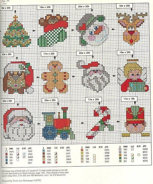 #Free #Christmas #Motifs || 15 graficos navideños en punto de cruz gratis01