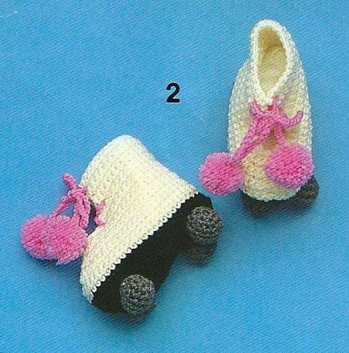 Baby roller derby booties.