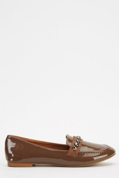 PVC Detailed Loafers