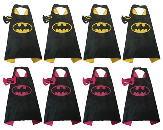 Party pack 15 Batman party Favors, Batman Cape And Mask,Batgirl, Batman, Boy Cape, Girl Cape