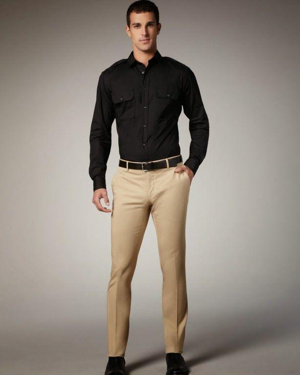 Resultado De Imagen Para Drill Hombre Modelo Camisa Negra Hombre Combinar Camisa Negra Ropa De Hombre Casual Elegante