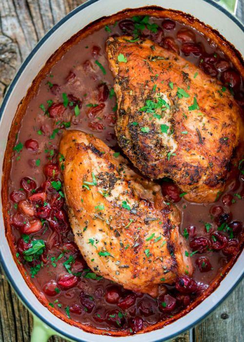 roast turkey breast with saucy cranberry sauceReally nice  Mein Blog: Alles rund um die Themen Genuss & Geschmack  Kochen Backen Braten Vorspeisen Hauptgerichte und Desserts # Hashtag