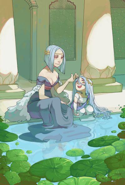 Little Azura and Arete | Tumblr