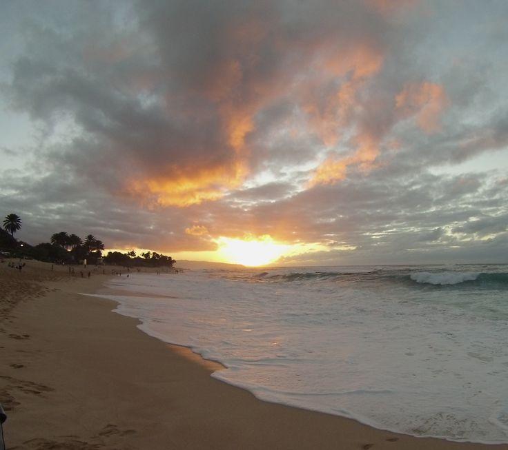 Por do sol lindo em Sunset Beach