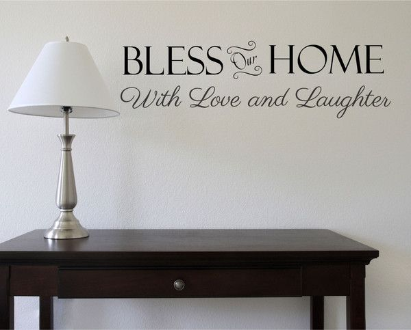 Attirant Bless Our Home   Family Wall Decal  Christian Decals   Family Quote    Family Wall