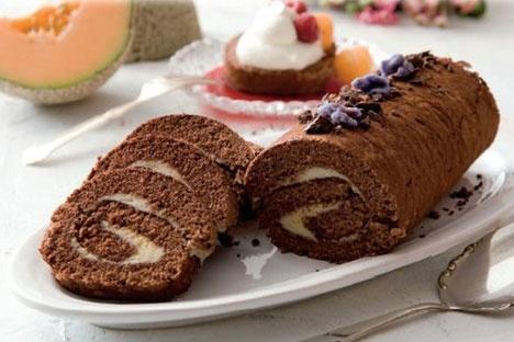 God gammeldags chokoladeroulade.