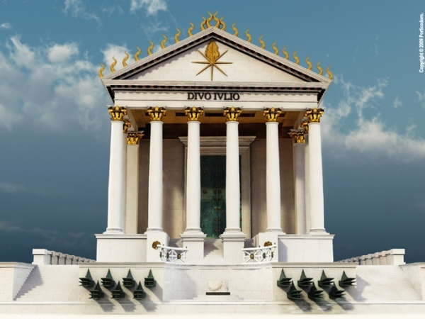 This is an electronic reproduction of how the temple would have looked like and was intended to look like.   http://ptstudio.cgsociety.org/gallery/