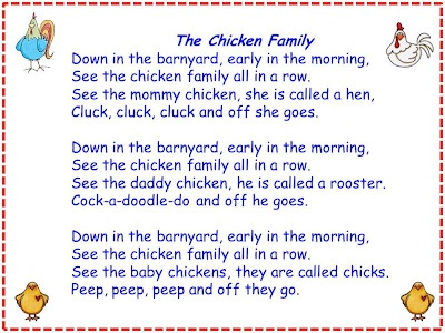 """Song, """"The Chicken Family"""""""
