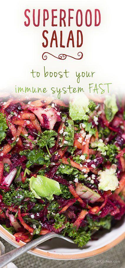 Superfood Salad   --[Avocado, Beetroot, Carrot, Celery, Garlic, Ginger, Kale, Lemon, Parsley}--