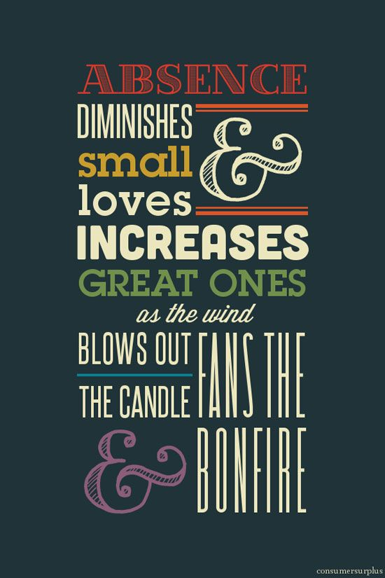 Absence Typography design inspiration. For the end. (The wind that blows put the candle fans the bonfire.)