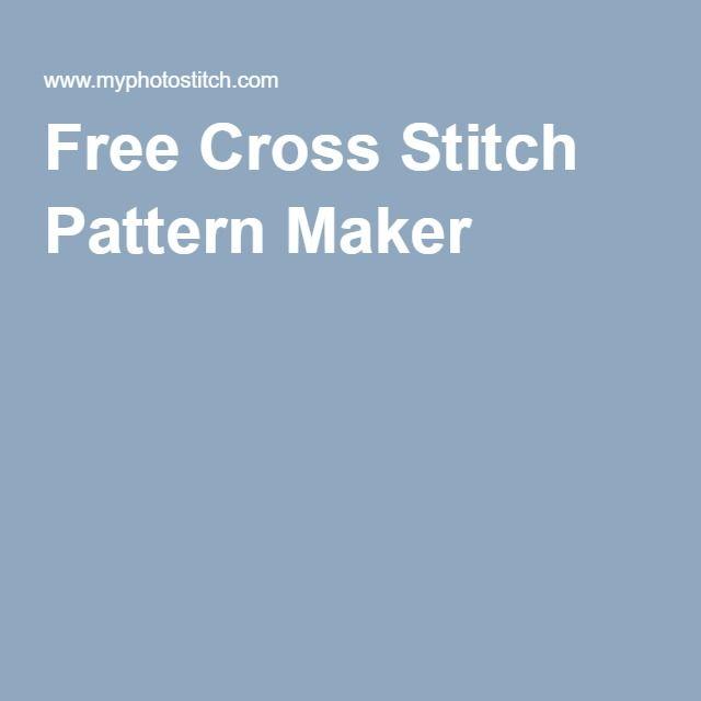 Free Cross Stitch Pattern Maker